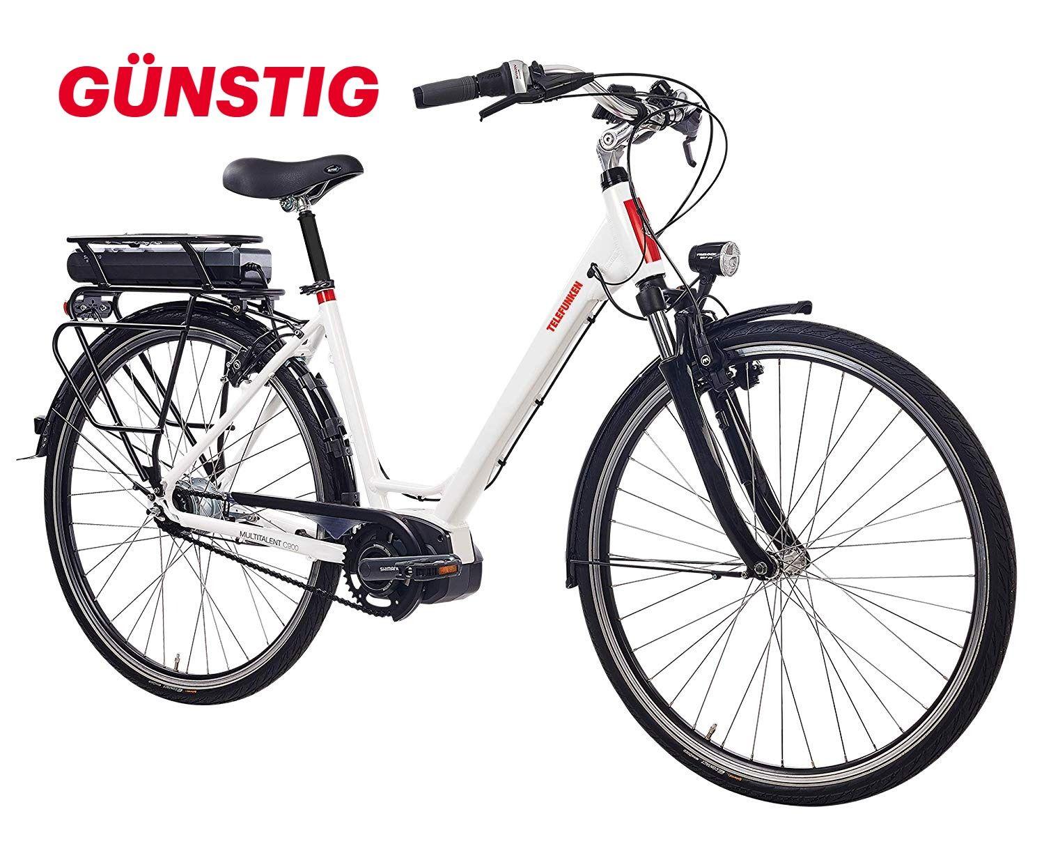 Telefunken E Bike Elektrofahrrad Alu Weiss 8 Gang Shimano Nabenschaltung Pedelec Citybike Leicht Shimano Steps Mittelmotor 25 In 2020 Elektrofahrrad Pedelec E Bike