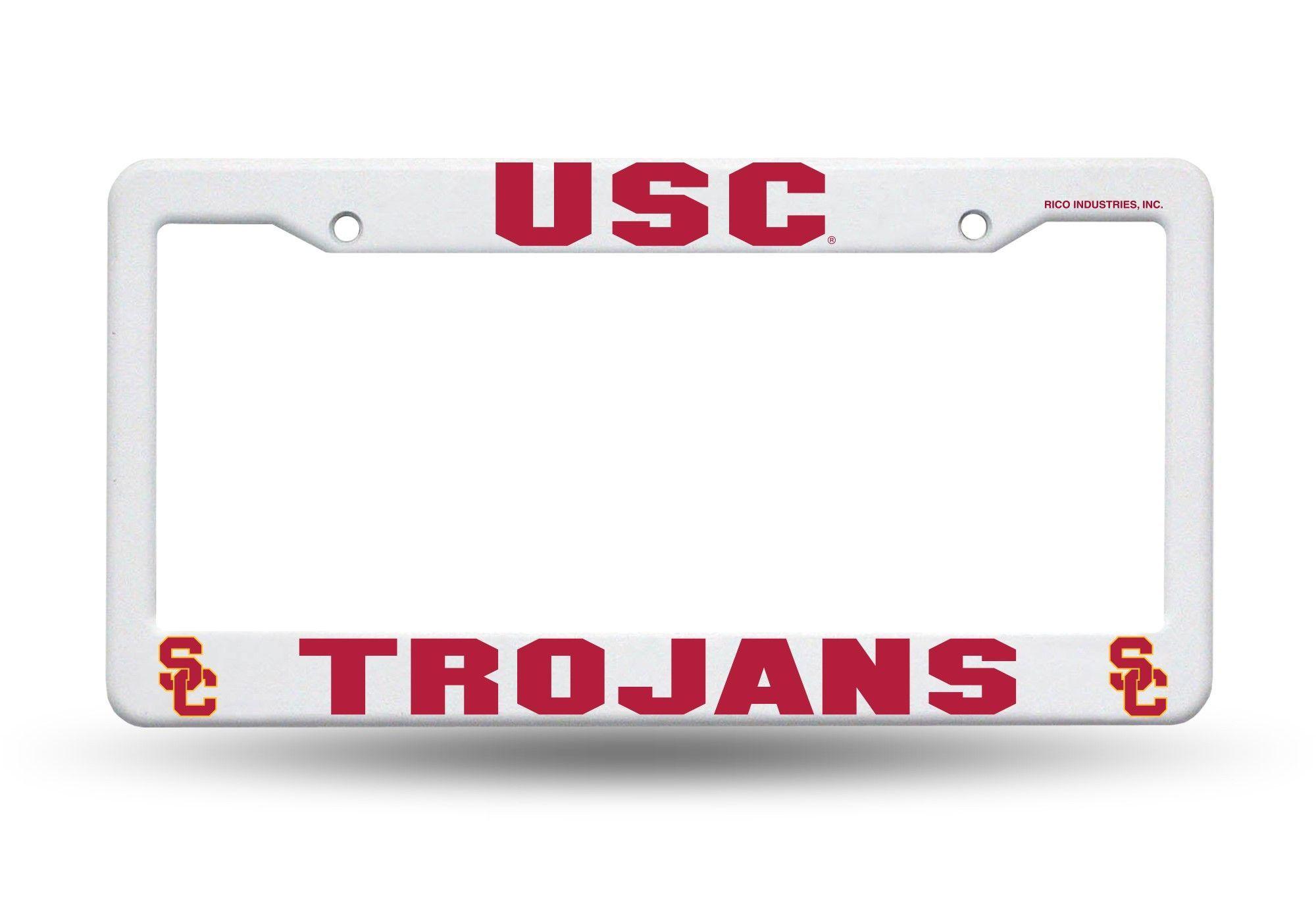 USC Trojans White Plastic License Plate Frame 3D NCAA NEW | D ...