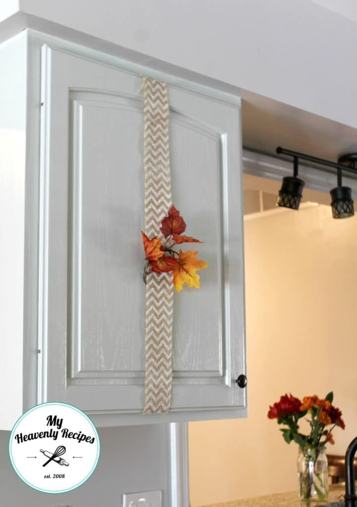 Affordable Way to Decorate Cabinets | Above cabinet decor ...