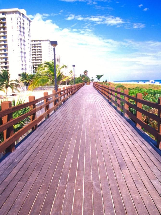 Boardwalk South Beach Miami Florida