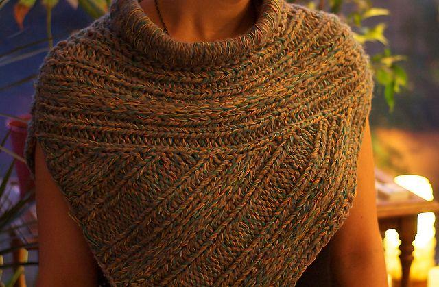 Trend-spotting: Katniss-inspired Knitwear   Poncho ...