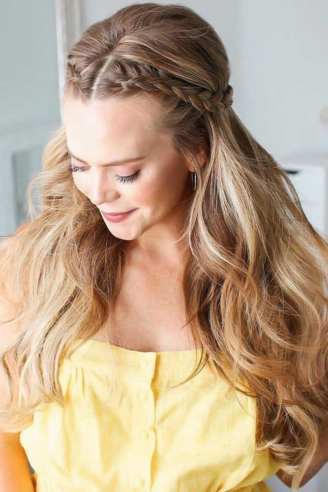65 Charming Braided Hairstyles Lovehairstyles Com Dutch Braid Hairstyles Hair Styles Front French Braids