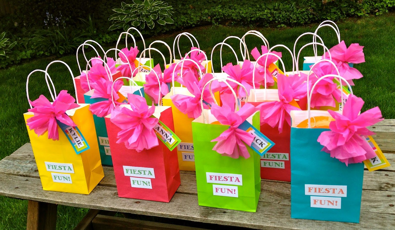 Bows from cheap plastic table clothes. Cute idea for favors. | Party ...