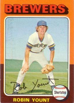 Robin Yount Rookie Card Ss Baseball Cards Baseball