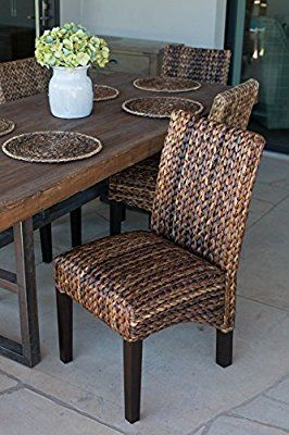 Perfect BirdRock Home Abaca And Seagrass Side Chair Set | 2 Pc | Delivered Fully  Assembled