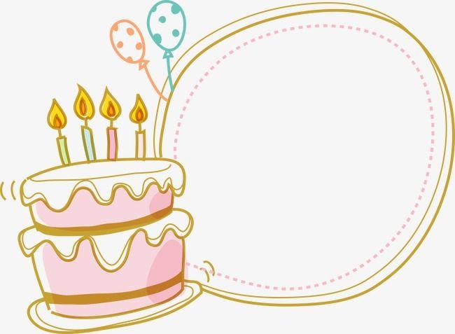 Cake Border Happy Birthday Clip Art Birthday Cards To Print Birthday Clips