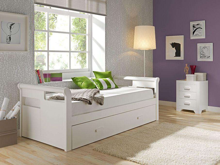 Cama nido gondola blanca lacada mod malaga dormitorio invitados y ni o en 2019 dormitorios - Camas blancas juveniles ...