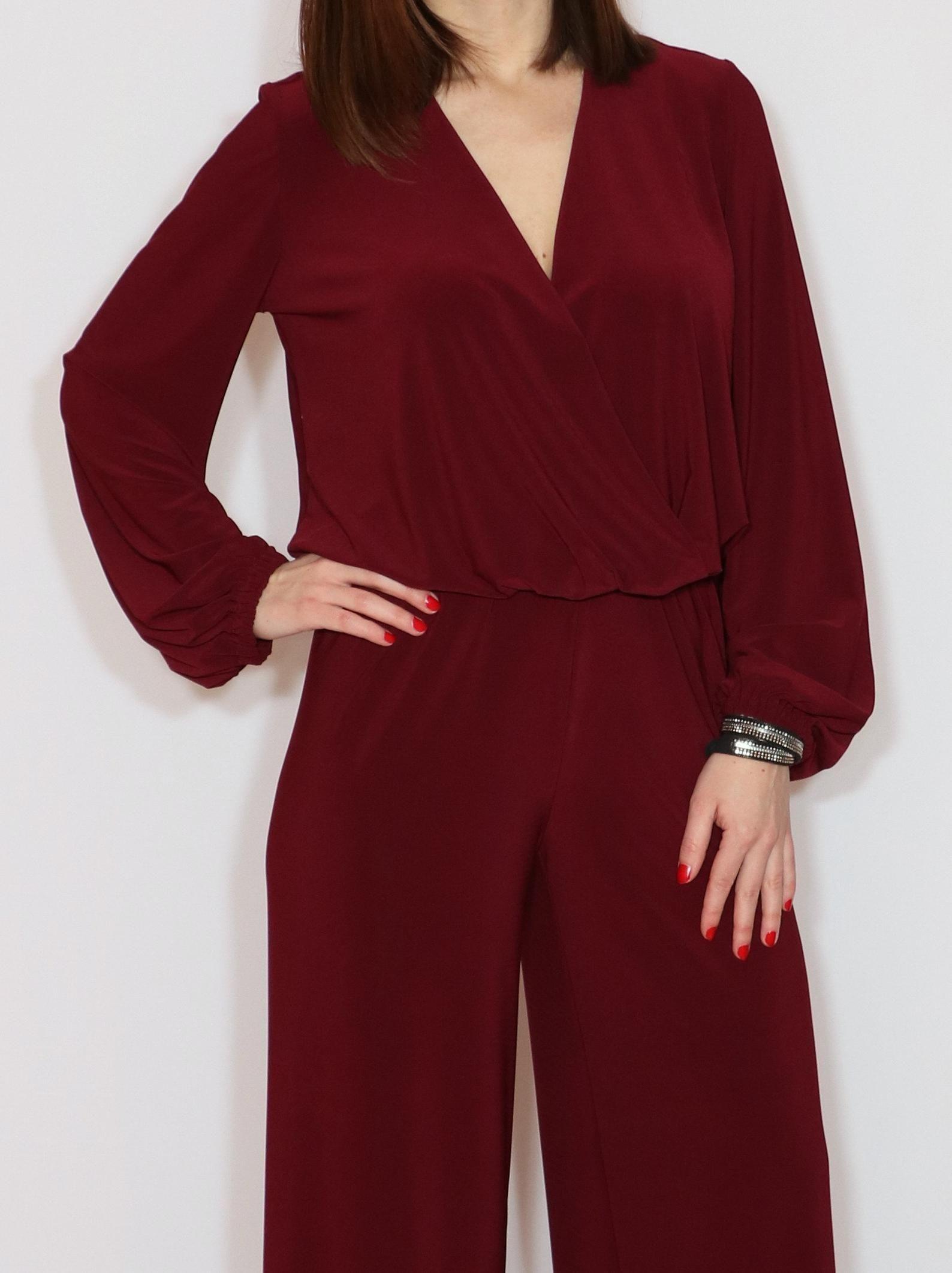 Burgundy Jumpsuit Women Wine Red Long Sleeve Jumpsuit Wide Etsy Burgundy Long Sleeve Jumpsuit Jumpsuits For Women Long Sleeve Jumpsuit