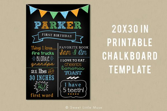 Printable Chalkboard Template @creativework247 | Cards | Pinterest ...