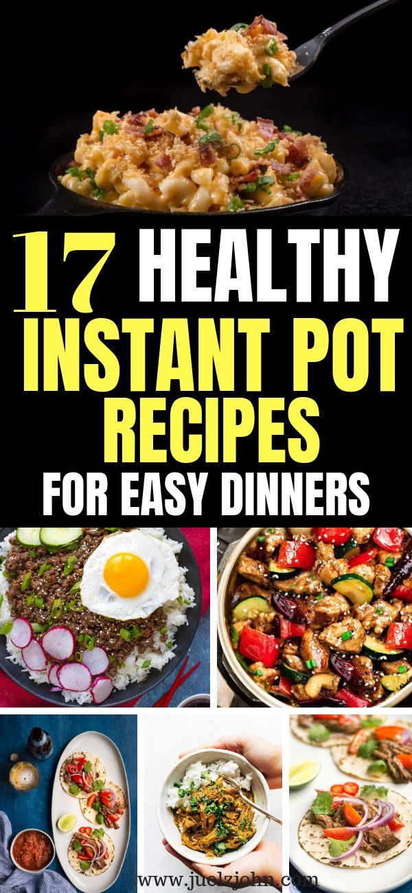 Healthy Instant Pot Recipes Perfect For Busy Nights. images