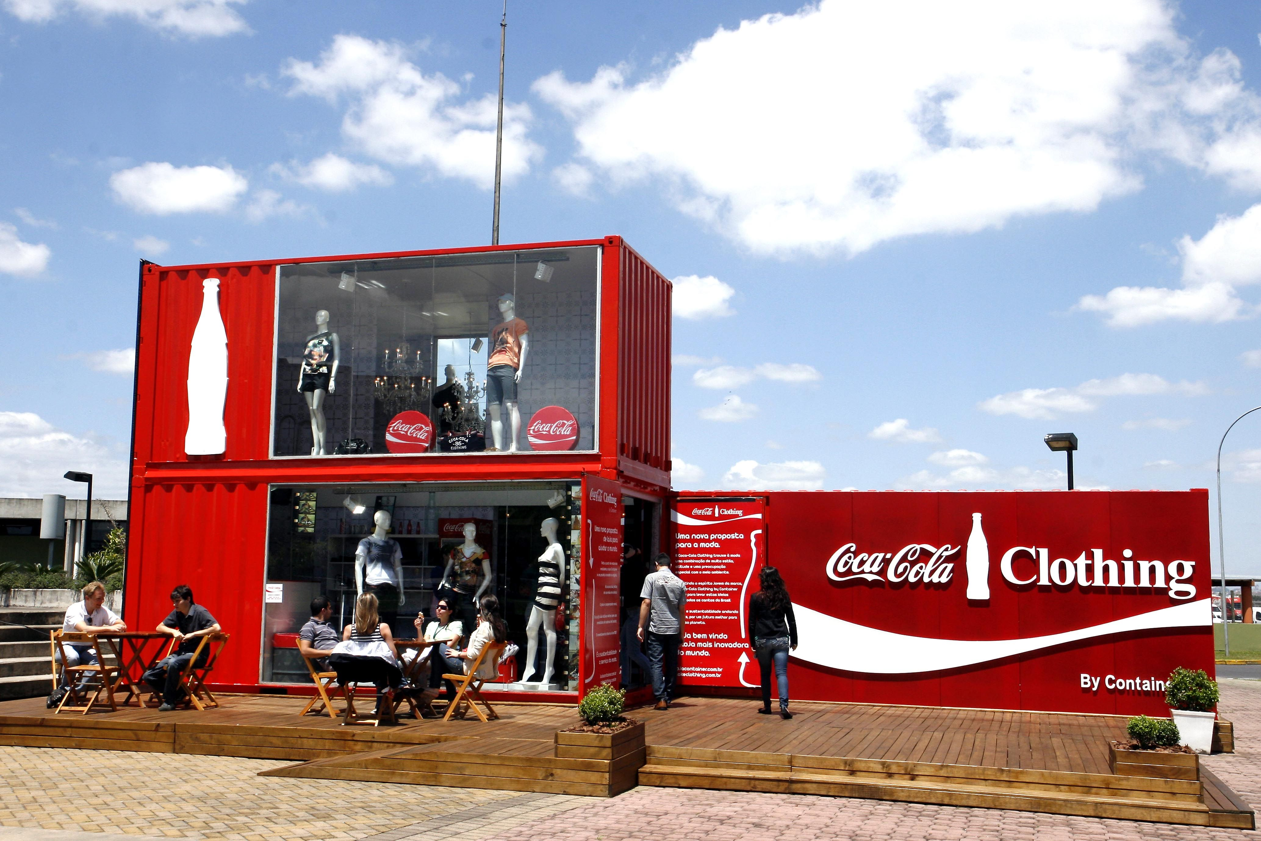 Coca Cola Clothings Store Front View