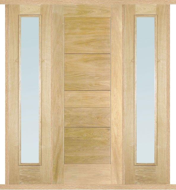 Modica Oak External Double Side Panel Door Set