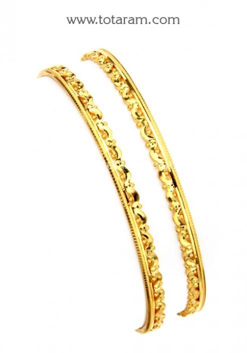 22K Gold Bangles Set of 2 1 Pair Totaram Jewelers Buy Indian