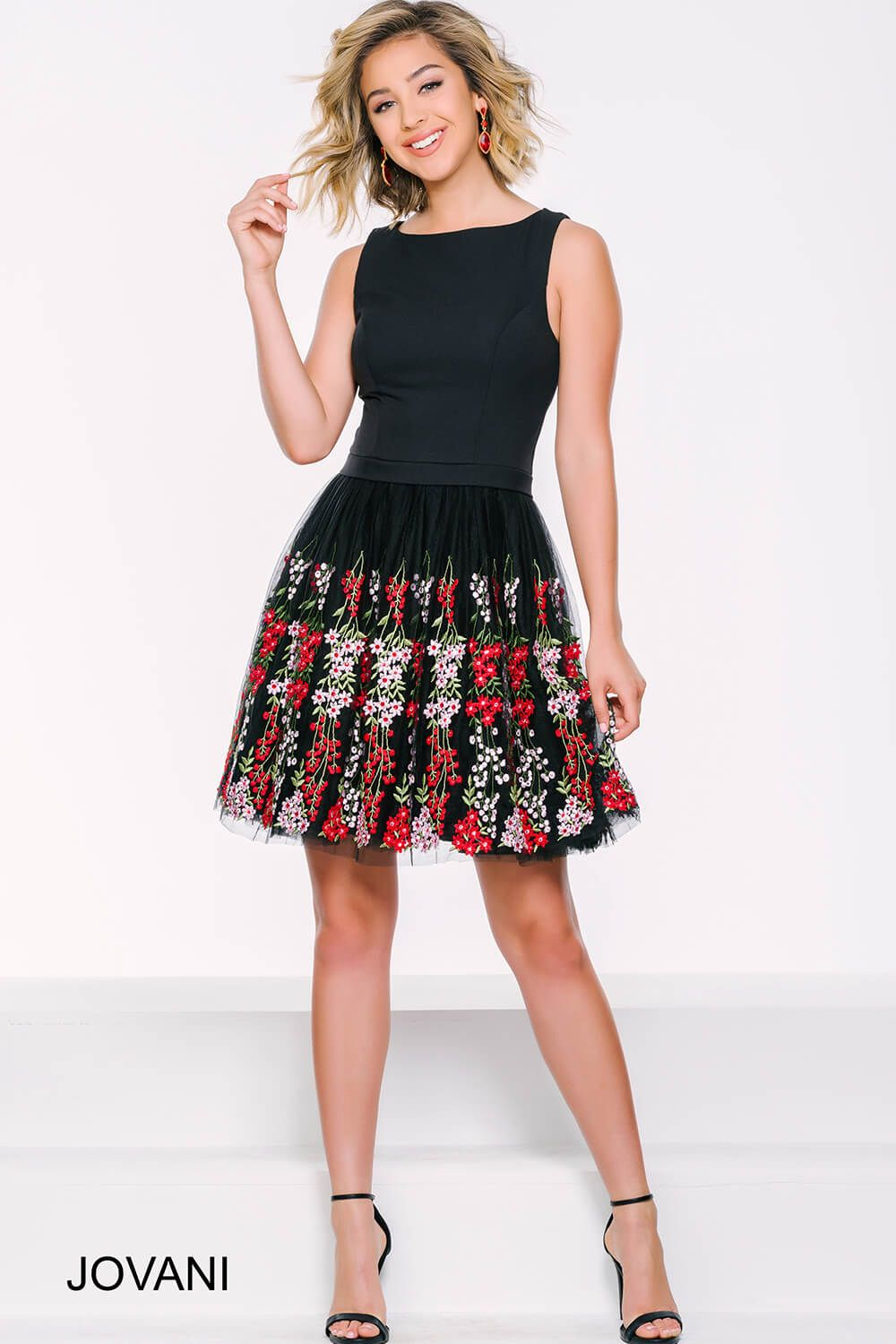 This jovani dress is the perfect take on the classic lbd