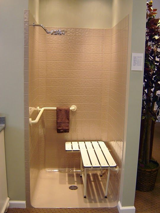 Elegant showroom unit complete with seat, valve and grab bar ...