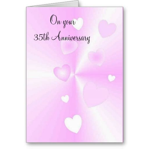 a happy 35th wedding anniversary card hearts wedding anniversary