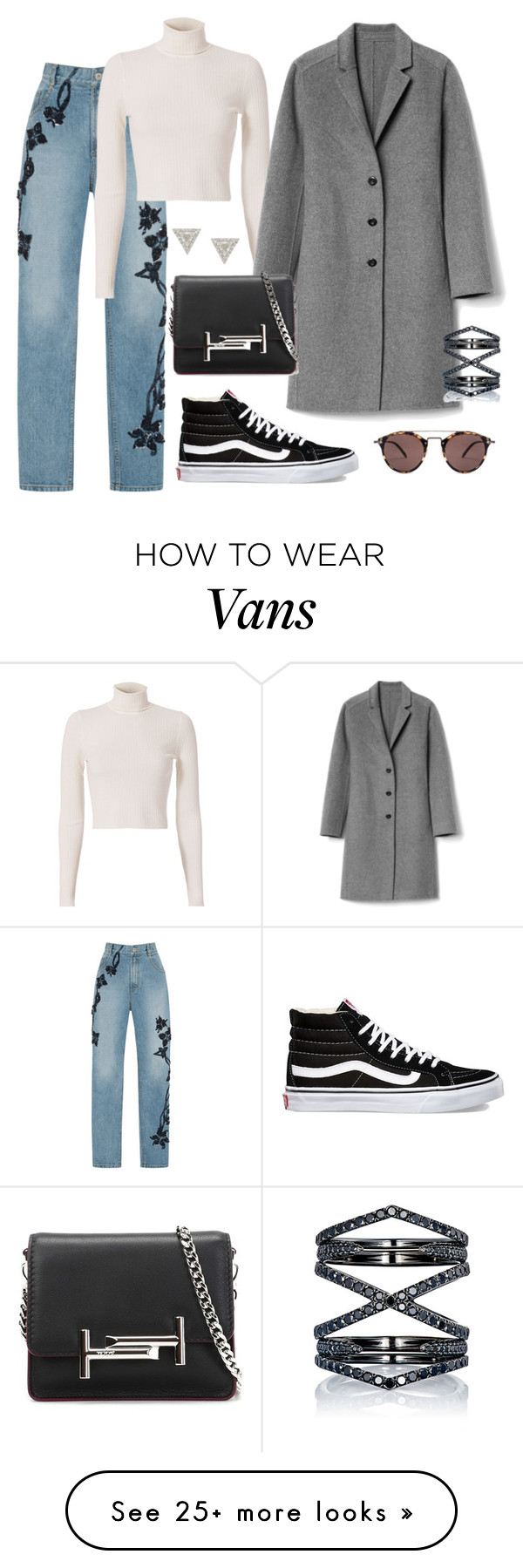 """""""#555"""" by tubbie on Polyvore featuring Jonathan Simkhai, Lizzie Mandler, A.L.C., Gap, Oliver Peoples, Tod's, Eva Fehren and Vans"""