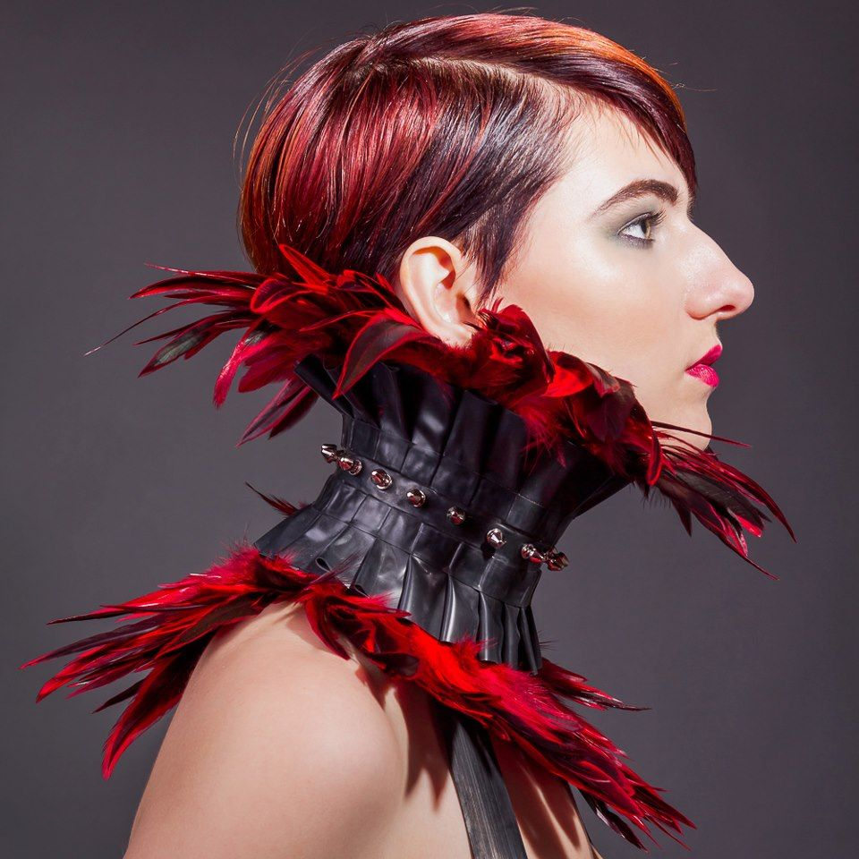Model: Sara Scarlet |  Photo, post processing, concept: Kirsten Thys Van Den Audenaerde |  MUAH: MU Djenien |  Published: Dark Beauty Magazine (online) |  #SaraScarlet #Fashion #Hairs #Makeup |  Pin by @settimamas
