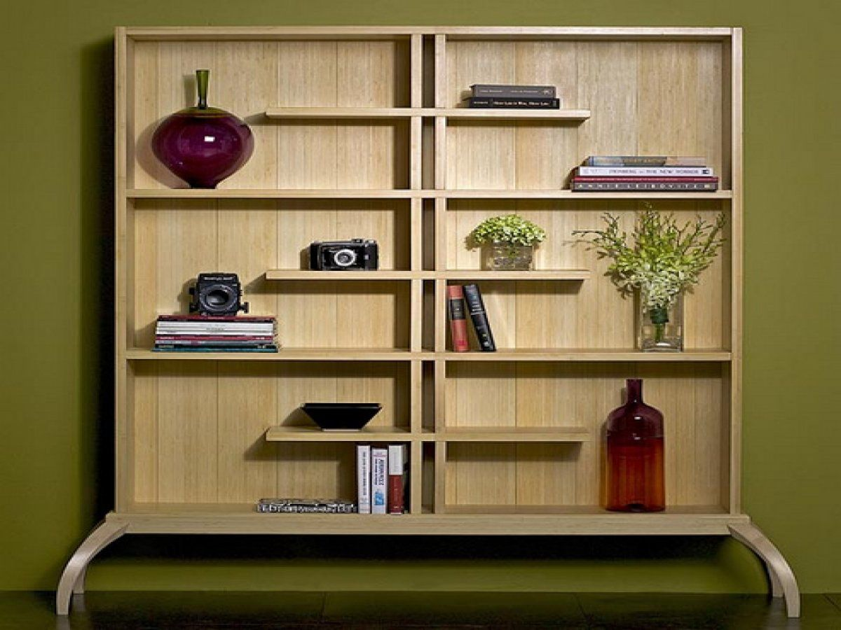 Modern Bookshelves classic contemporary wooden bookshelf unit design in square base