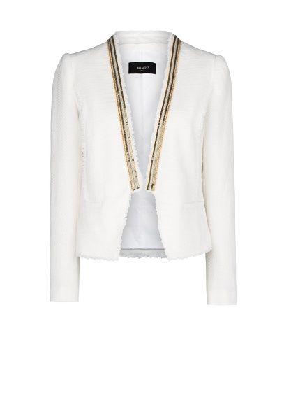 Veste courte blanc mango