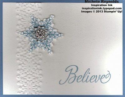 Snowflake Soiree Sparkle Center Believe