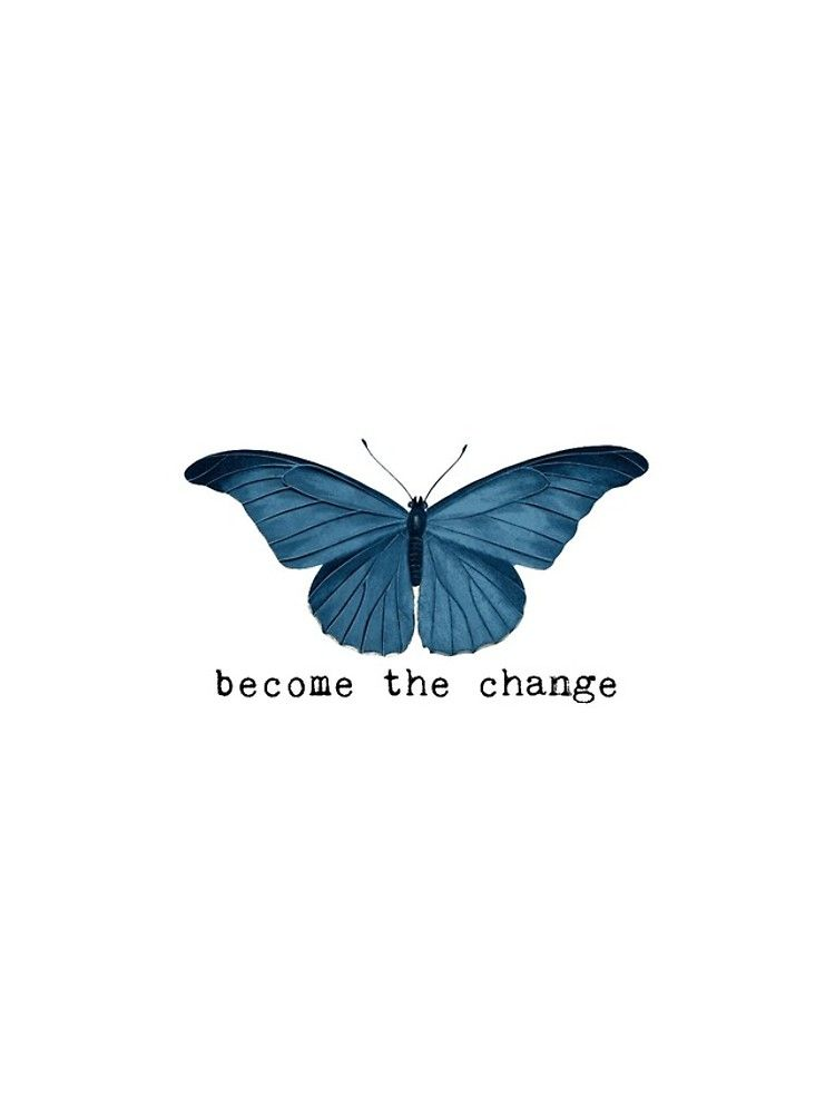 Blue Butterfly - Become The Change iPhone Case & Cover