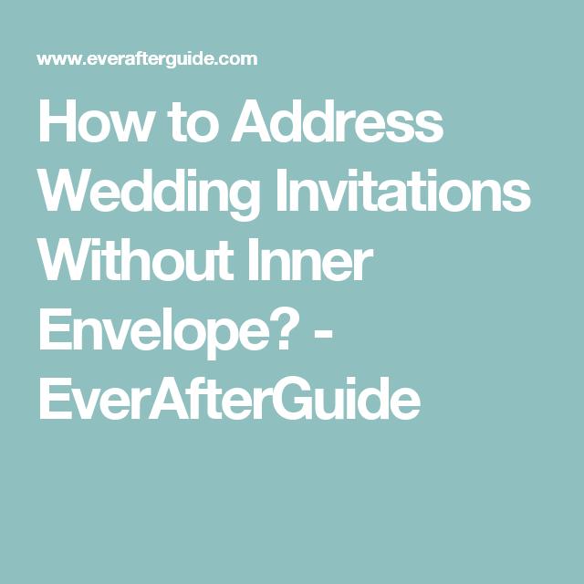 Addressing Pocket Wedding Invitations Without The Inner Envelope Wedding Invitations Addressing Wedding Invitations Pocket Wedding Invitations