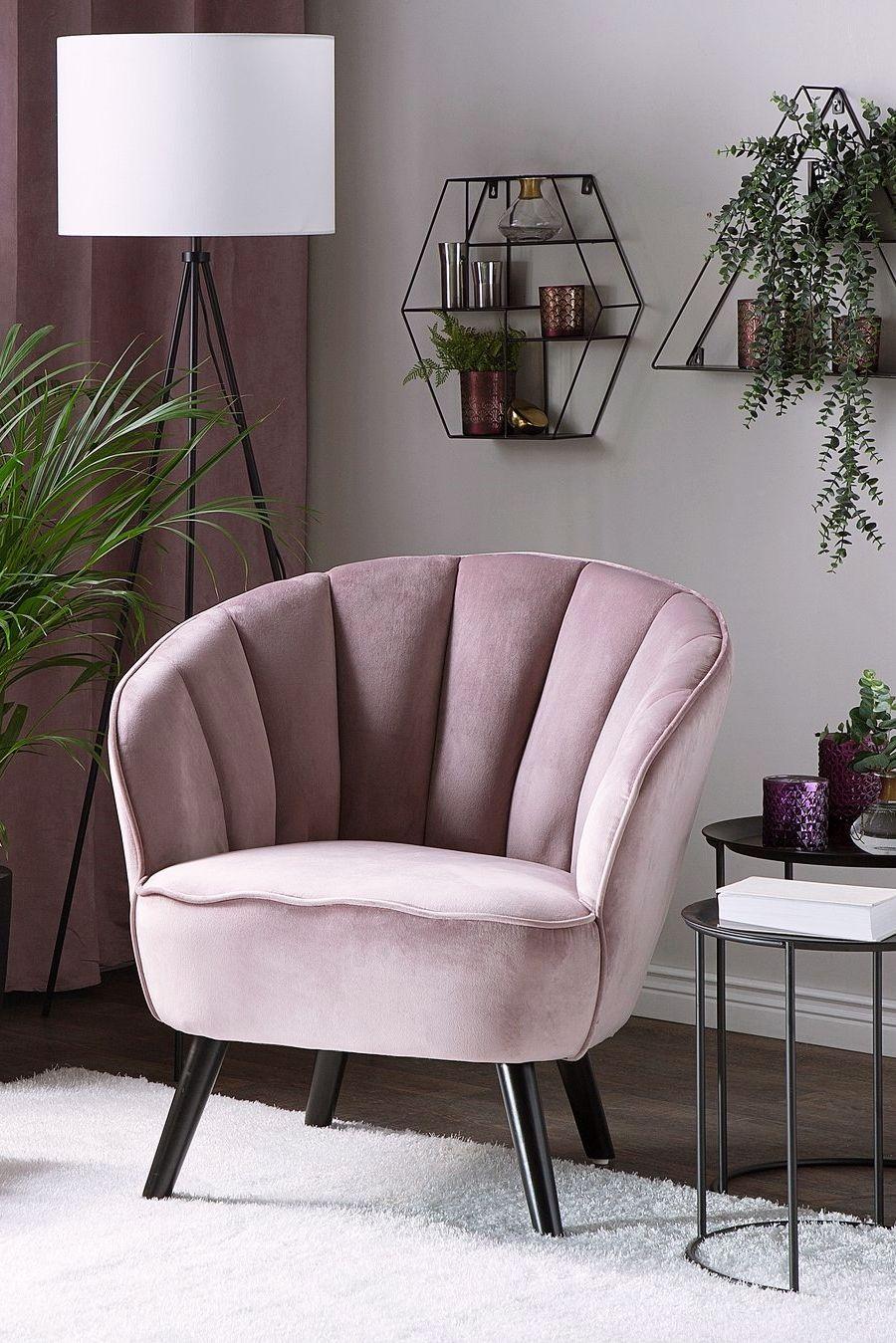 Fotel Welur Różowy Dala Salon W 2019 Meble Chairs I Krzesła