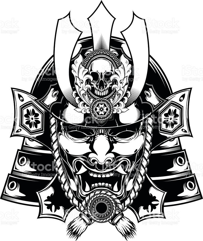 Samurai Mask Japanese Vector Id542797012 863 1024 Samurai Tattoo Design Japanese Tattoo Samurai Mask Tattoo