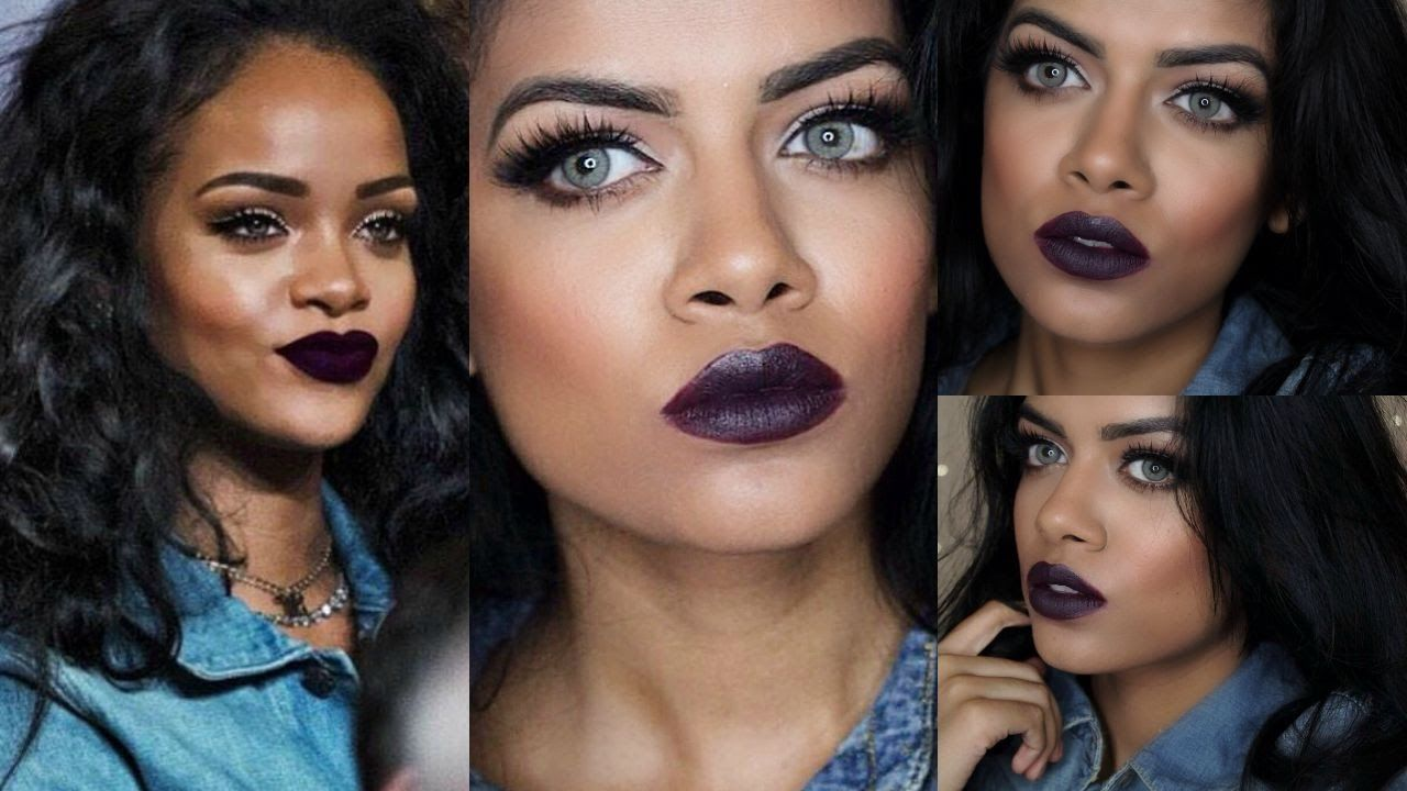 Rihanna inspired makeup tutorial maquillajes pinterest makeup rihanna inspired makeup tutorial baditri Image collections