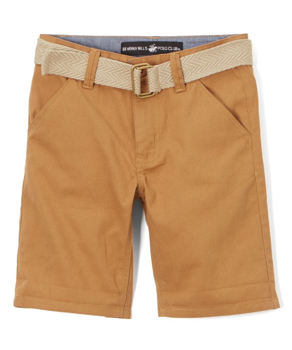 Beverly Hills Polo Club British Khaki Belted Twill Shorts - Infant ...