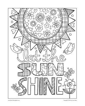 Celebrate Spring With These Printable Adult Coloring Pages Posh