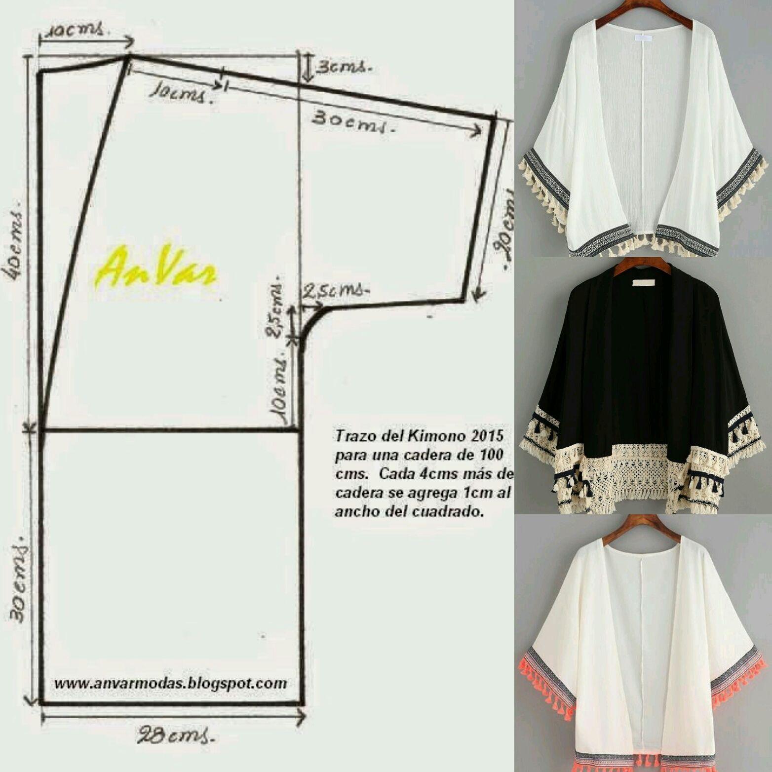 Kimono.. Patrón incluido.. - Glenny Melendez - Google+ | ropa ...