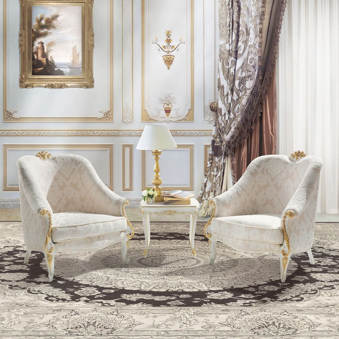 Paolucci Armchairs White And Gold The Perfect Set Up For Your