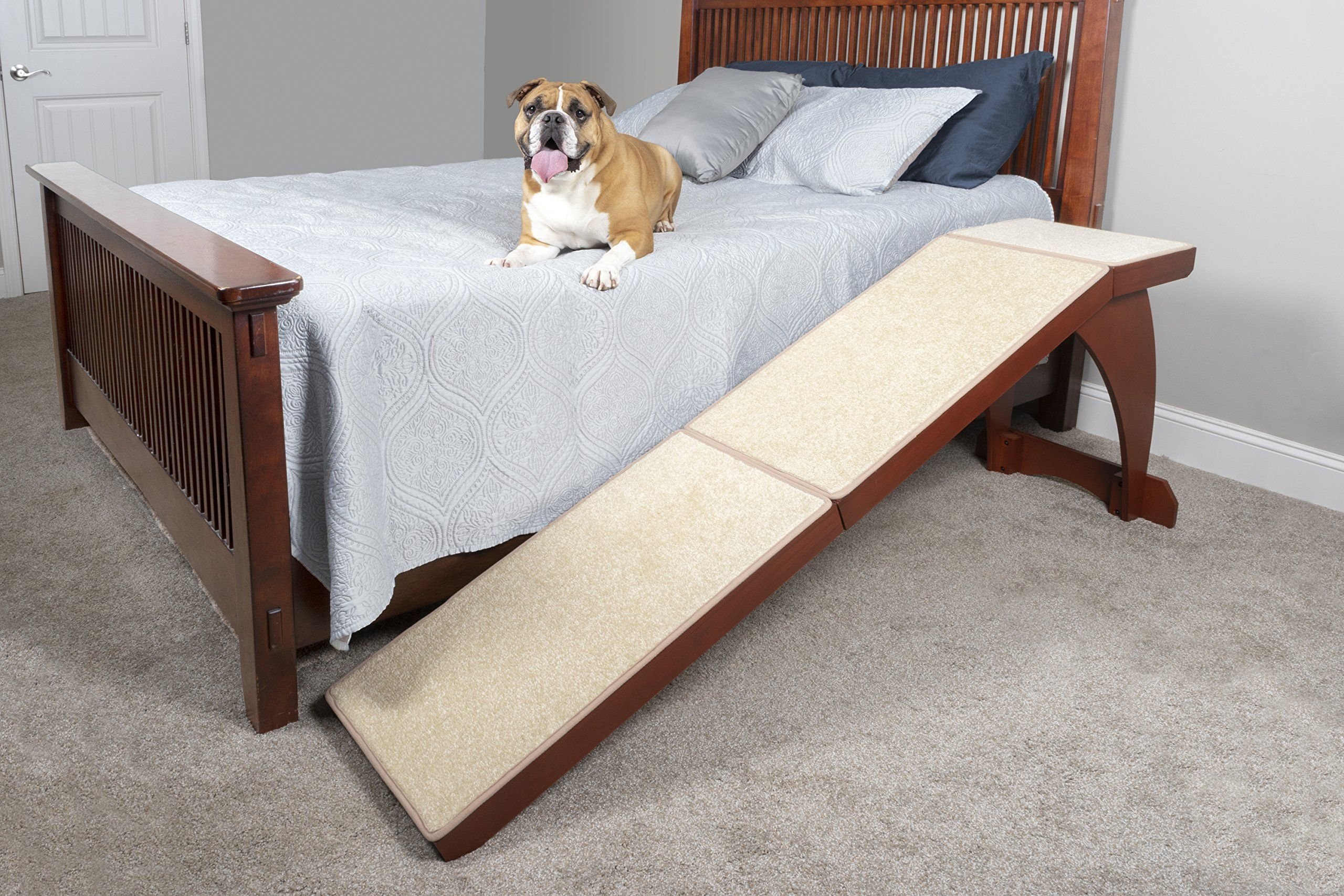 Solvit Wood Bedside Ramp Ad Wood Solvit Ramp Bedside Pet Ramp Dog Stairs Dog Ramp For Bed