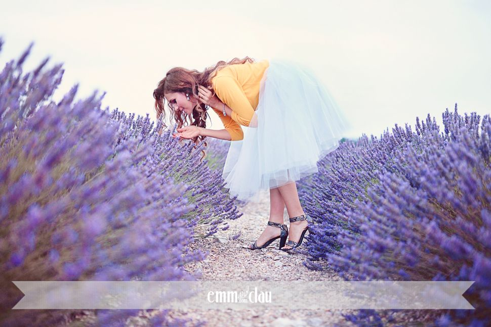Provence & Tuscany {Teaser} » Fine Art destination Photographers based in Europe Lavender fields in Provence Tulle skirt by Space 46 Boutique