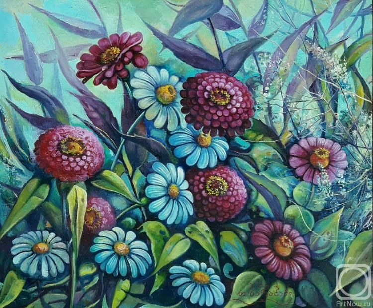 Картина маслом на холсте «Запах цветов. живопись ...