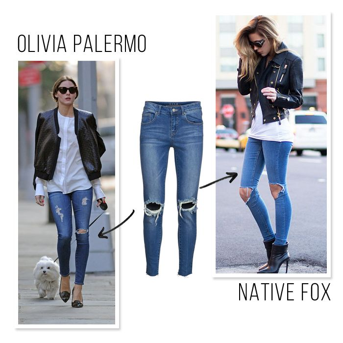 Olivia Palermo Native Fox Pantalones Rotos Como Combinar Pantalones Rotos Ripped Jeans Looks De Moda Moda Tendencias De Moda