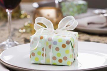 Pretty pastel polka dot wrap