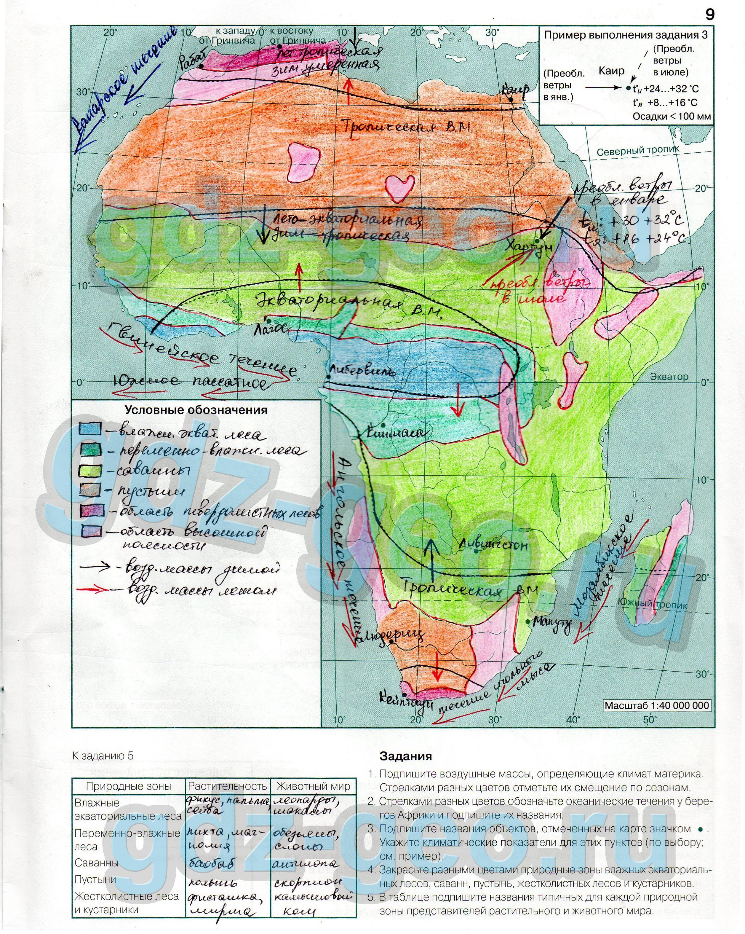 Гдз По Географии 7 Класс Контурные Карты Северная Америка
