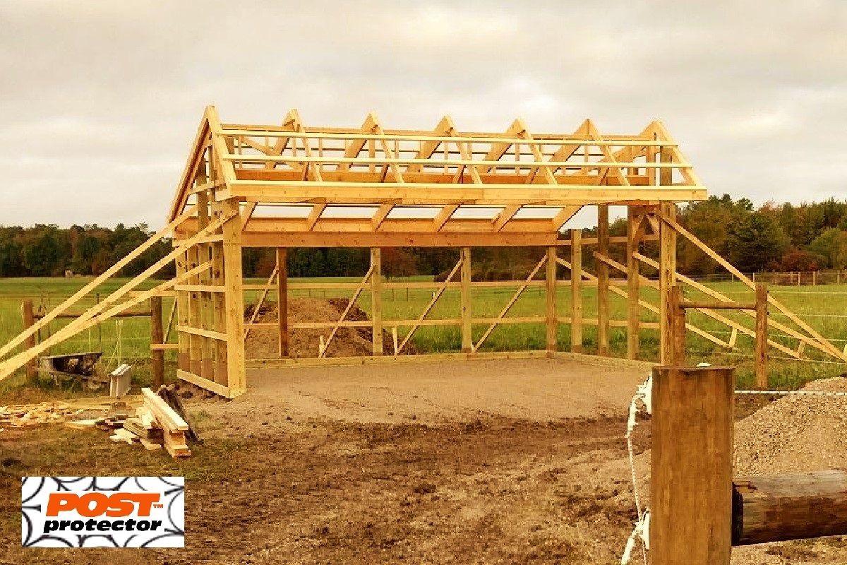 Post Sleeves for 6x6 pole barn posts | Farm VA | Cedar fence