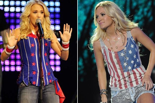 Carrie Underwood Artists Wearing The American Flag Carrie Underwood How To Wear Outfits