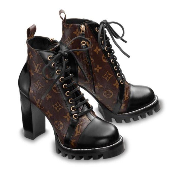 2c9ce8cbdac Louis Vuitton Ankle   Booties Monoglam Plain Toe Leather Block Heels  Elegant Style 3
