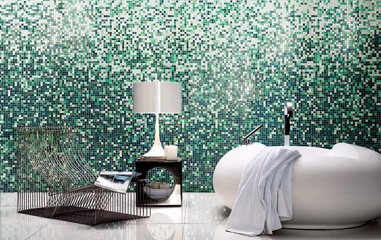 Mosaikfliesen für Bad, Küche und Wohnzimmer Farbverlauf mit - schöner wohnen küche
