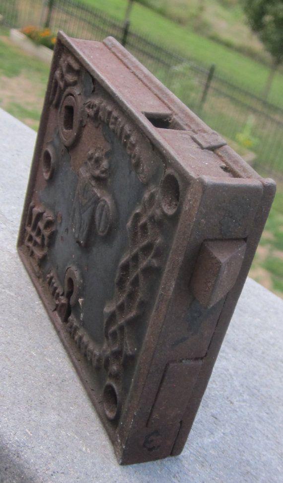 Antique Door Locks antique door lock ornate cast iron 149 years old 1863 | antique