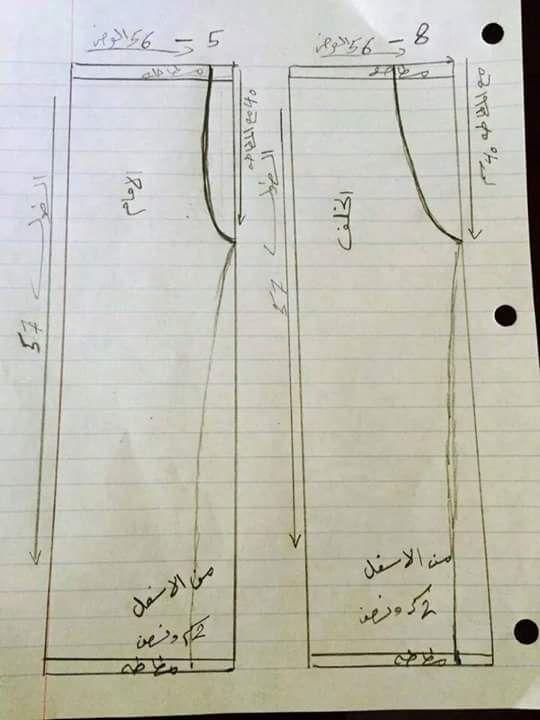 طريقة تفصيل سروال بالصور تعلم الخياطة اون لاين Easy Sewing Patterns Pants Pattern Sewing Ruffles