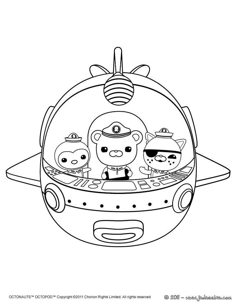 Octonauts Printable Coloring Pages | Mewarnai | Octonauts Party ...