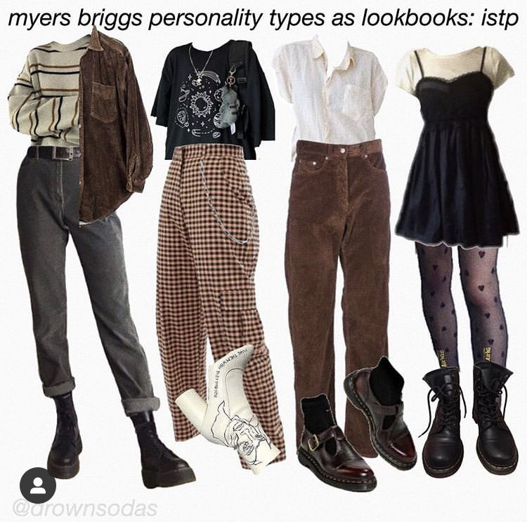 Myers Briggs Personality Types As Lookbooks Vintage Outfits Grunge Outfits Retro Outfits