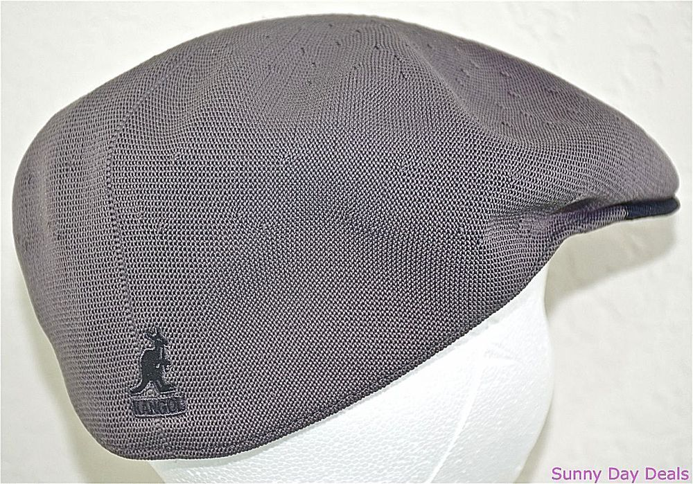 Kangol Cap Mens Two Tone Recycled Tropic 504 Hat Sloped K0874CO Charcoal  Gray L  Kangol  NewsboyCabbie f9c1b0f2705