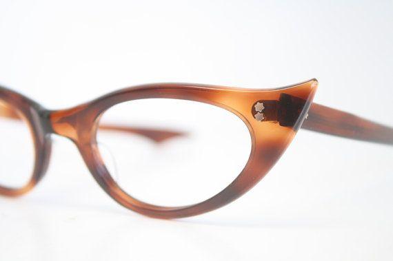Unused Tortoise Cat Eye Glasses Cateye Frames Vintage Eyewear 1960s Eyeglasses New Old Stock